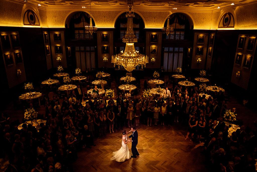 Daniel Moyer Photography, bride and groom at the union league