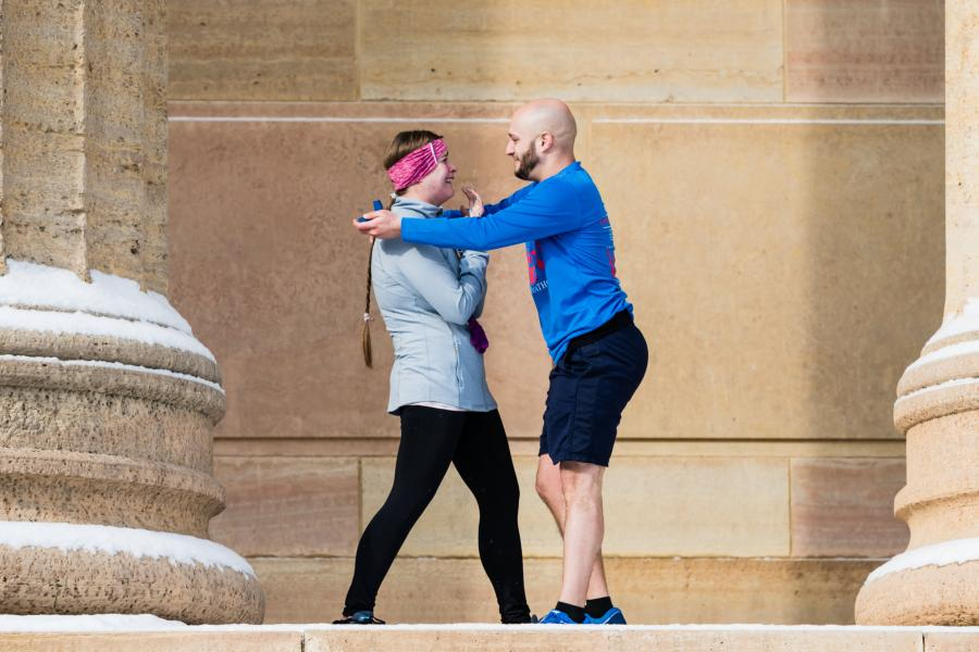 A Snowy Proposal At The Philadelphia Museum Of Art Ilana and Noah Proposal Story Philly In Love Philadelphia Wedding Blog