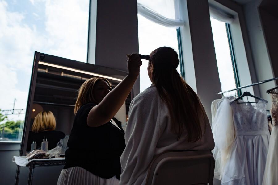 Dolly Marshall wedding makeup artist