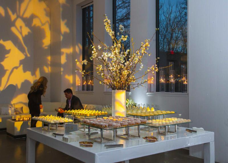 flowers and desserts at location 215