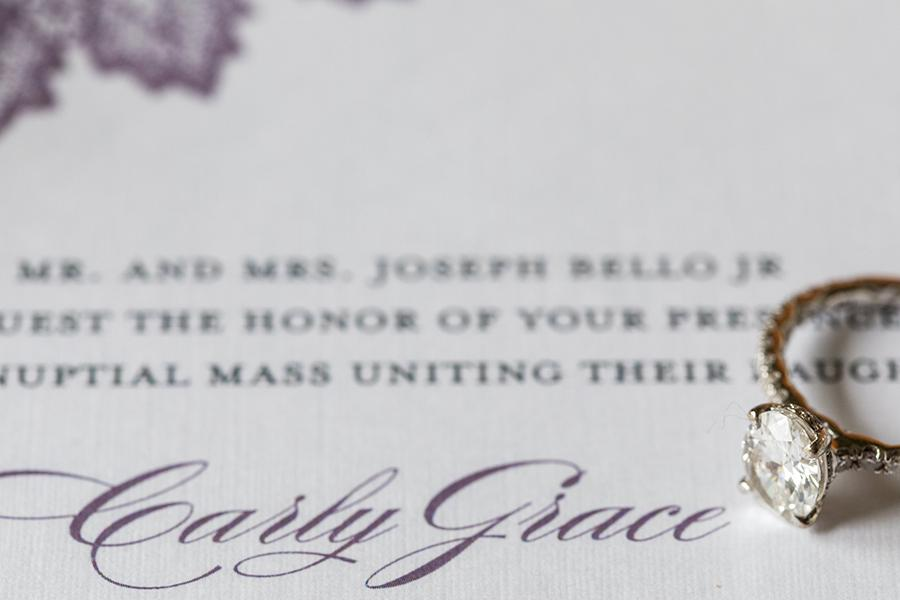 wedding ring and invitation by ashley gerrity photography and philly in love