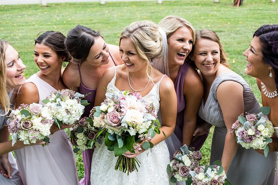 bride and bridesmaids on wedding day by ashley gerrity photography and philly in love blog