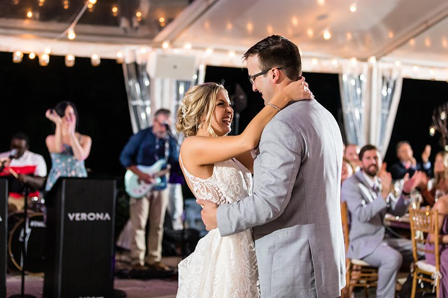 bride and groom's first dance at wedding reception by ashley gerrity photography and philly in love