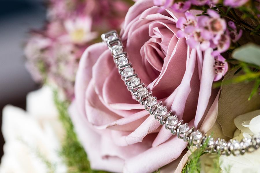 wedding jewelry and pink roses by ashley gerrity photography and philly in love blog