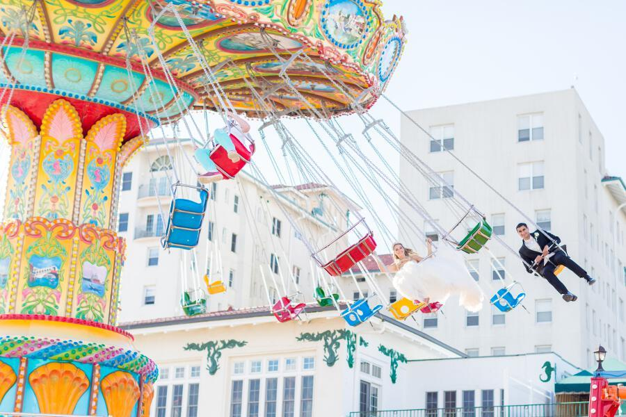 tami ryan photography, engagement session at fair in ocean city