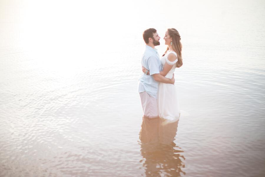 tami ryan photograph, engagement session in water