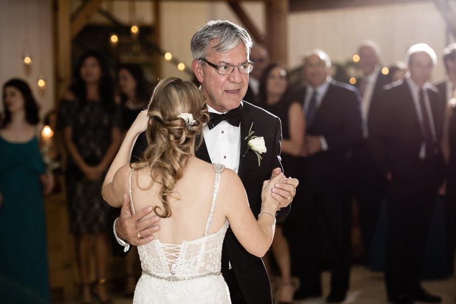 real wedding at the cira centre, father daughter dance