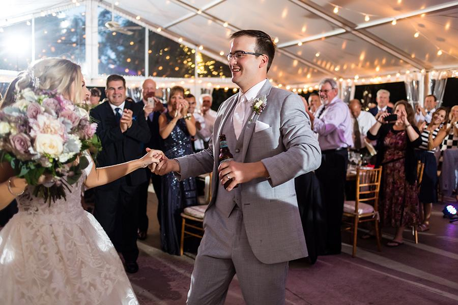 married couple dance during wedding reception at anthony wayne house by ashley gerrity photography and philly in love