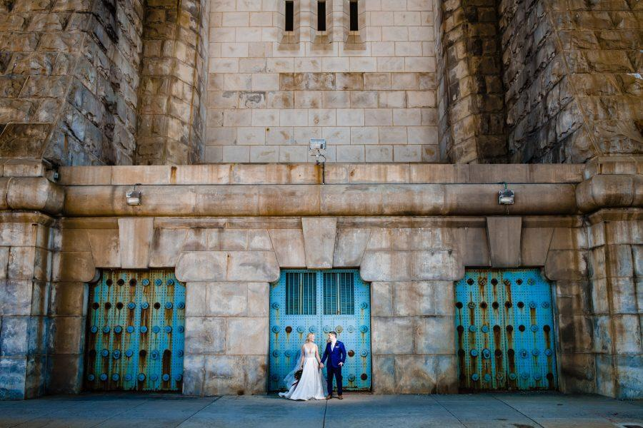 Philadelphia wedding photographers, deibert photography, ben franklin bridge