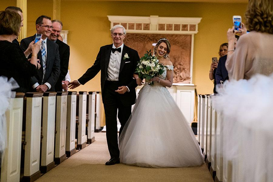 bride entering church by daniel moyer photography