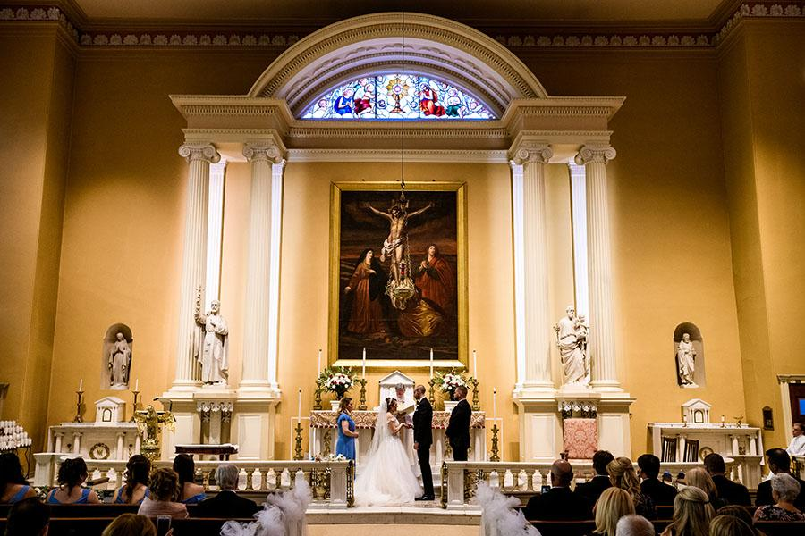 bride getting married in church by daniel moyer photography