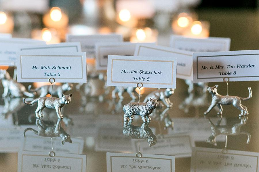 wedding seating cards at the downtown club by daniel moyer photography