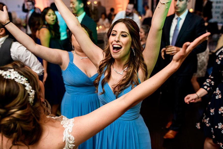 wedding guests dancing at the downtown club by daniel moyer photography