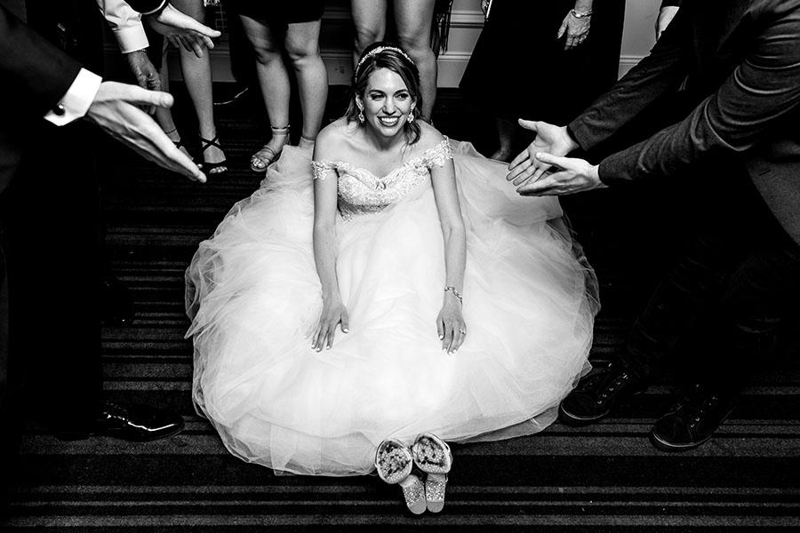 bride on dance floor at the downtown club by daniel moyer photography