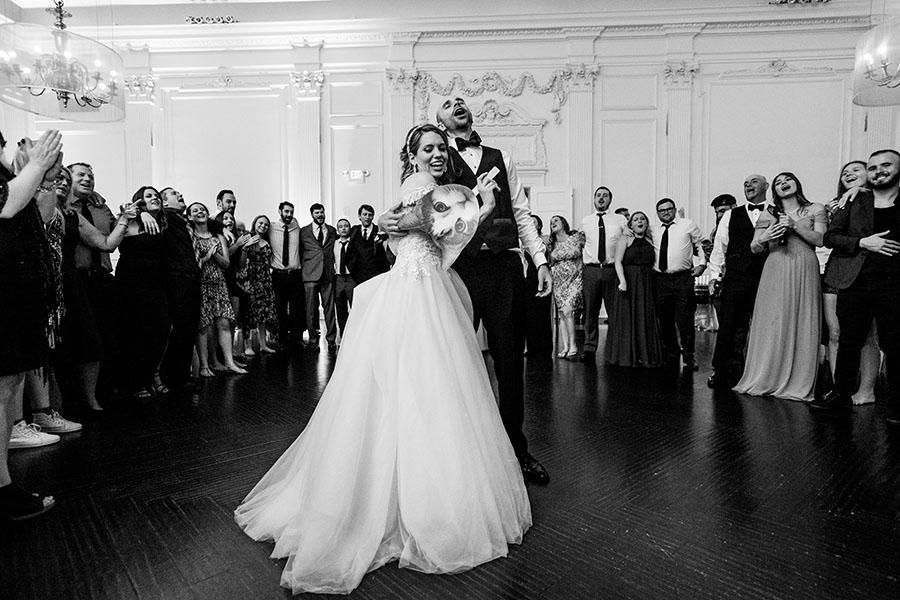 wedding couple on dance floor at the downtown club by daniel moyer photography
