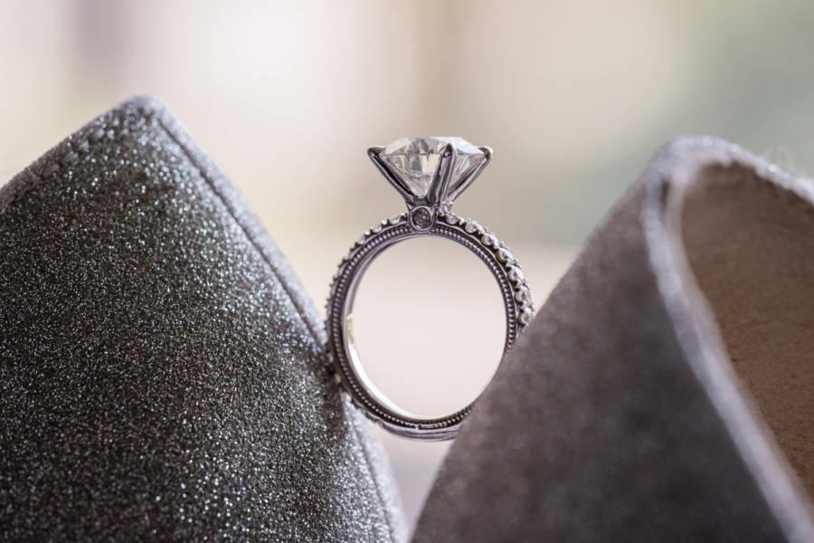 wedding ring photo by j & j photography studios