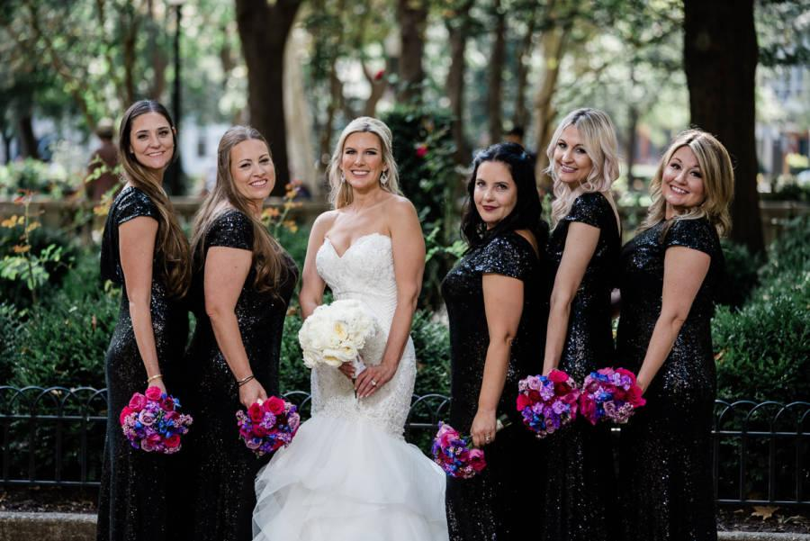 bride and bridesmaids by j & j photography studios
