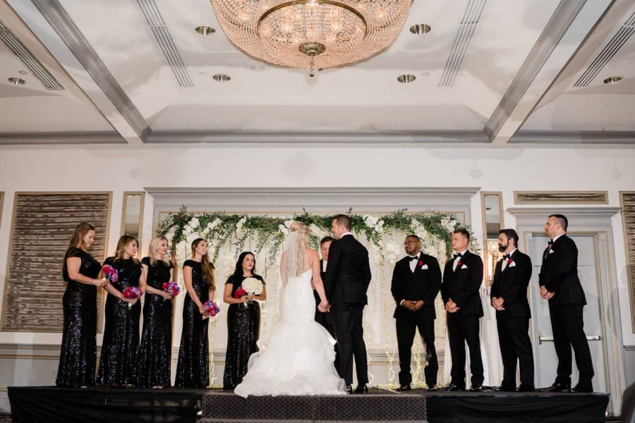 wedding ceremony at rittenhouse hotel