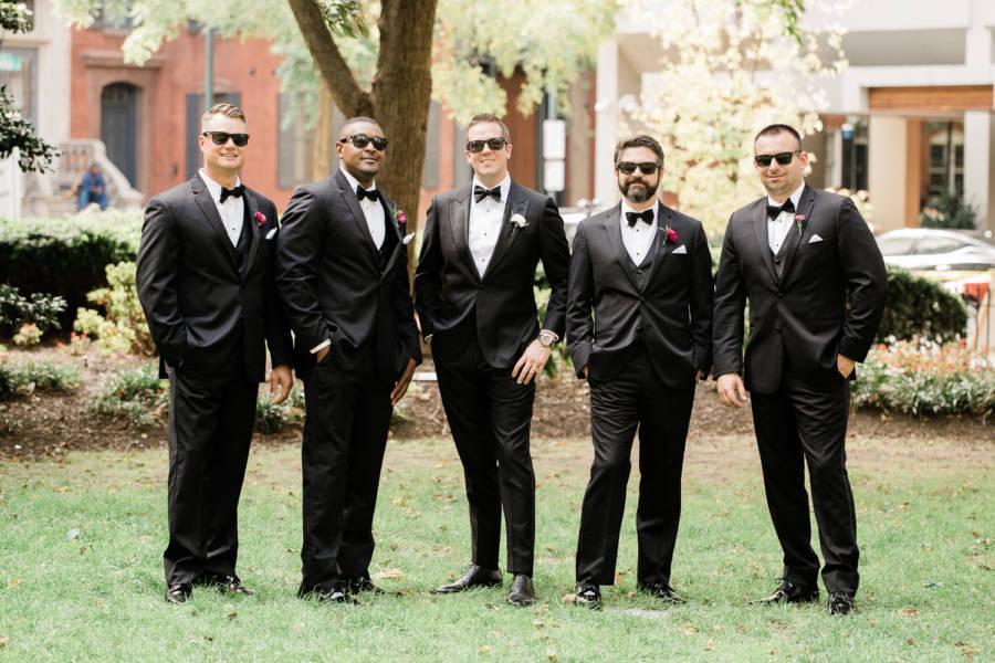 groomsmen outside by j & j photography studios