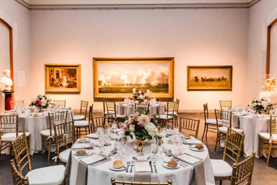 wedding reception in museum