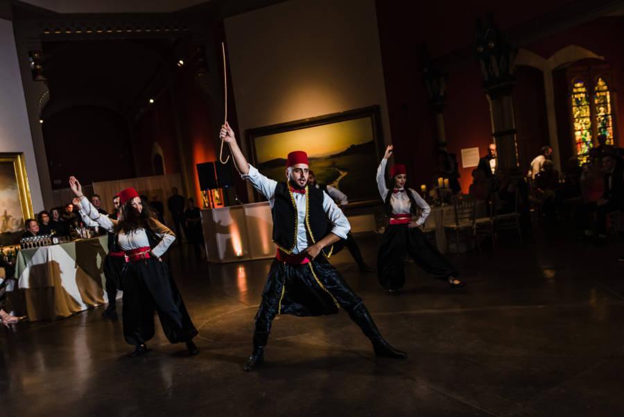 Lebanese dancers at wedding reception