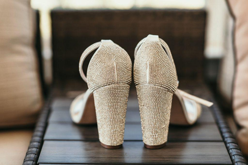sparkly bridal high heels