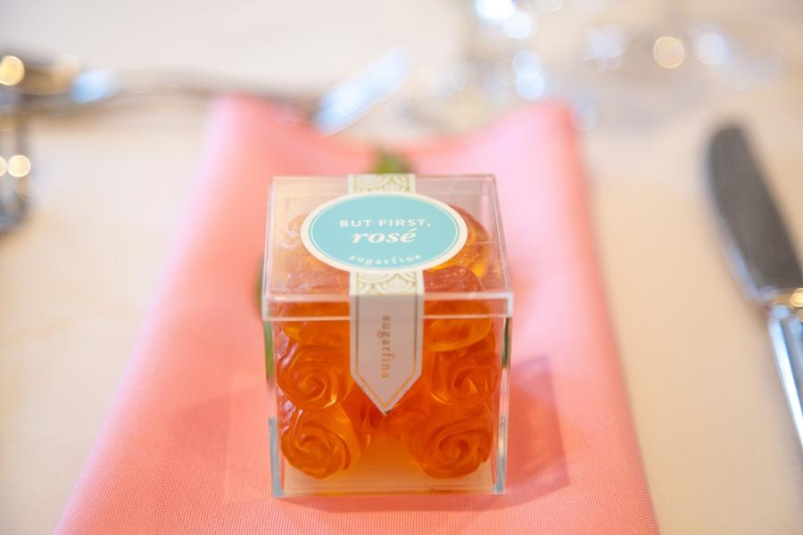 rose candy party favors