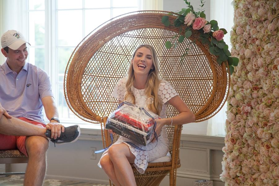 happy bride to be with books