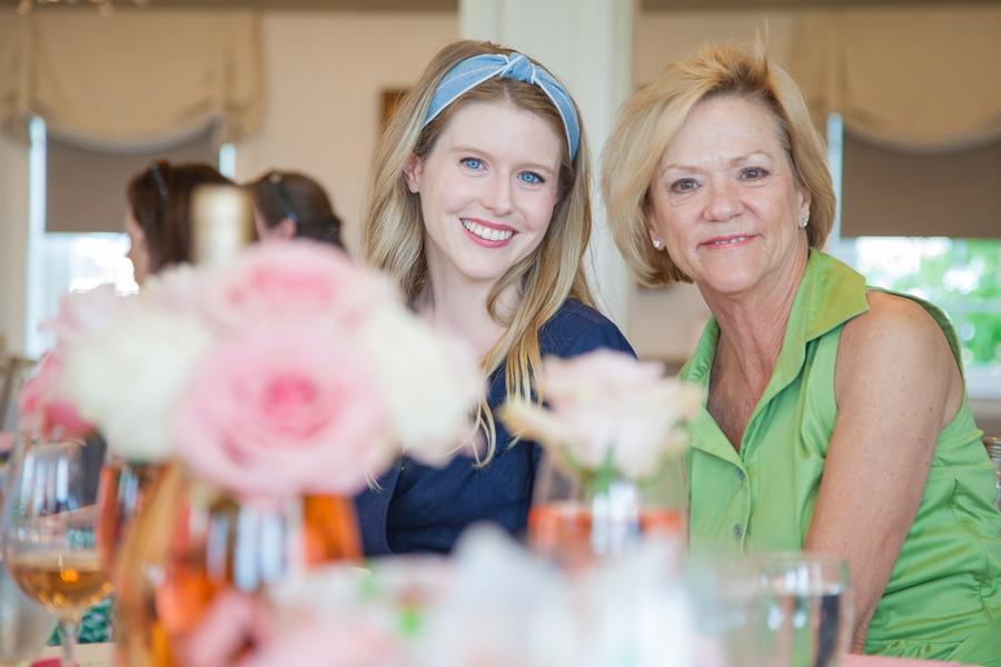 family attend rose bridal shower