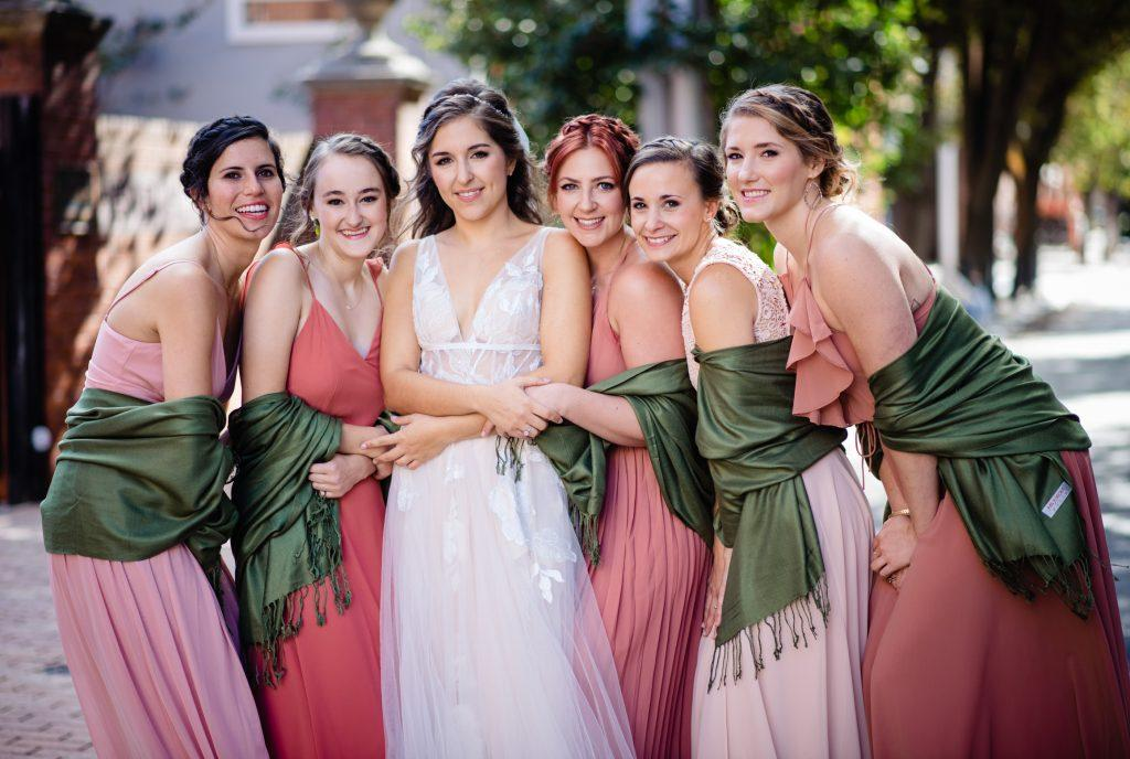 bride and bridesmaids, nicole cordisco photography