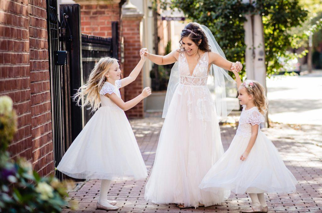 bride and flower girls, nicole cordisco photography