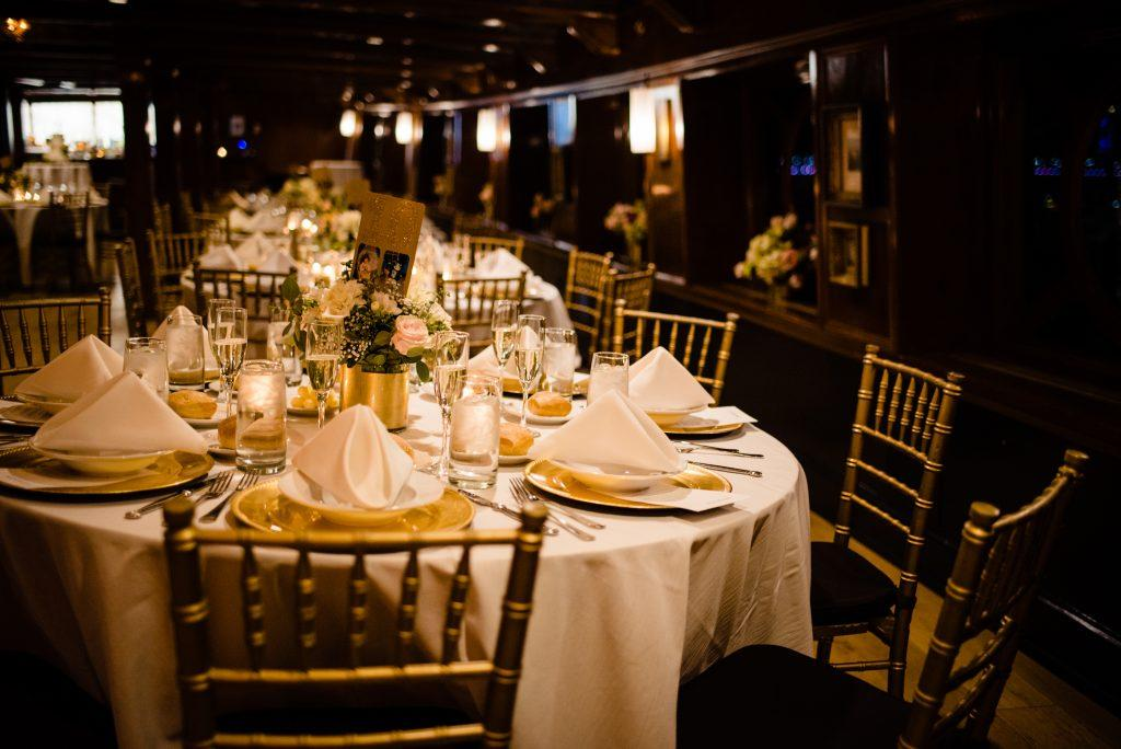 wedding reception aboard ship