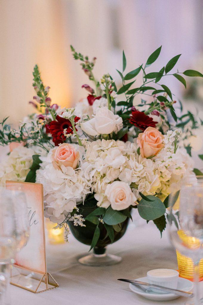wedding reception tableding centerpiece