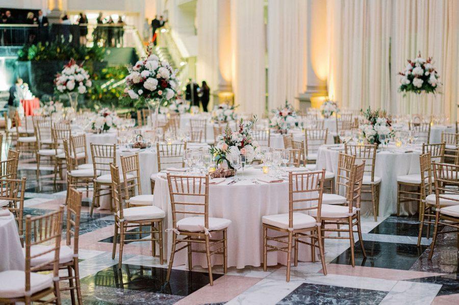 the curtis atrium wedding reception