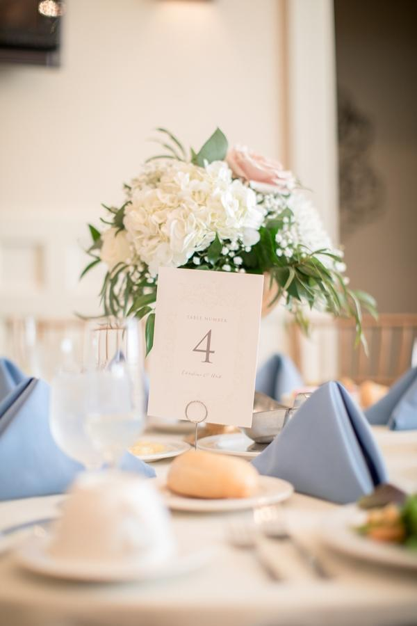 table number on wedding table