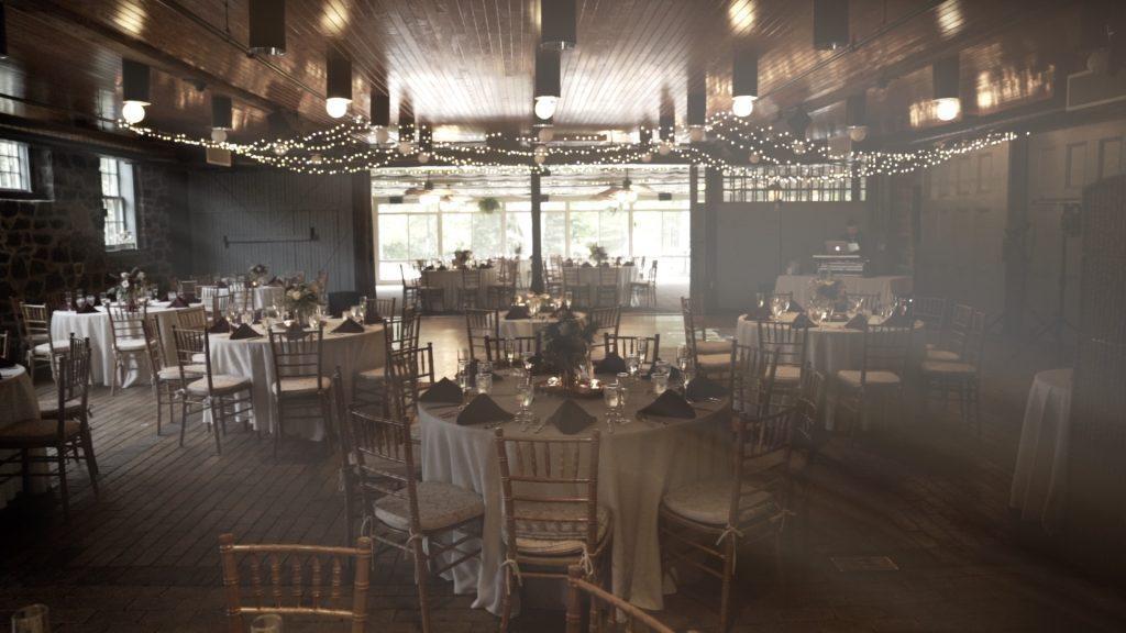 wedding reception dining room