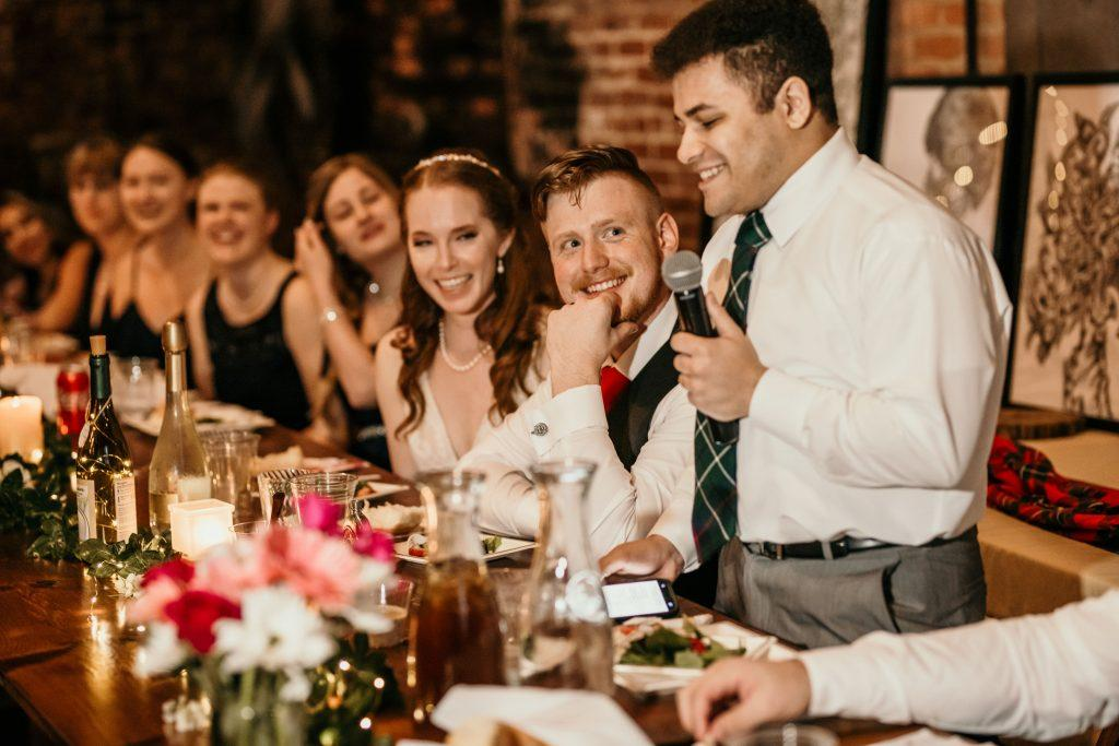 best man makes wedding speech