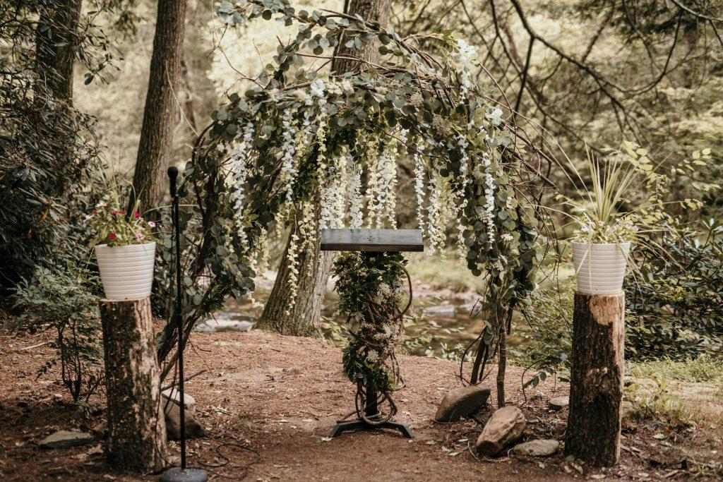 sacred altar spot in woods