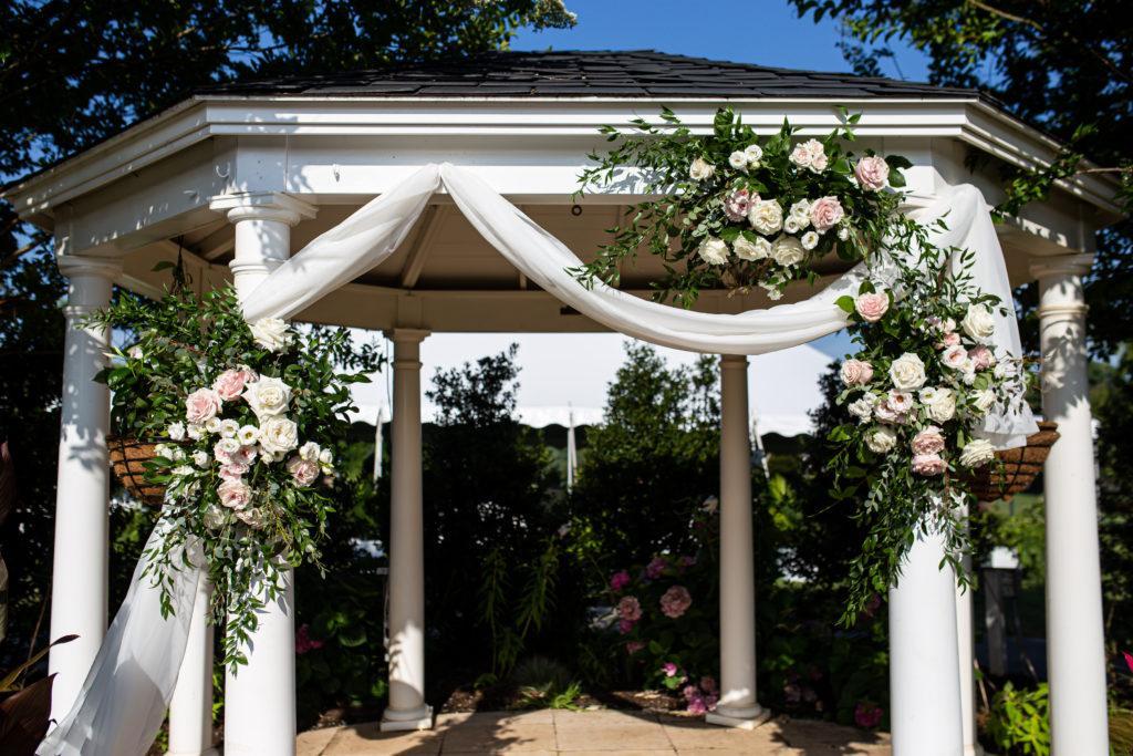 ceremony, penn oaks country club wedding