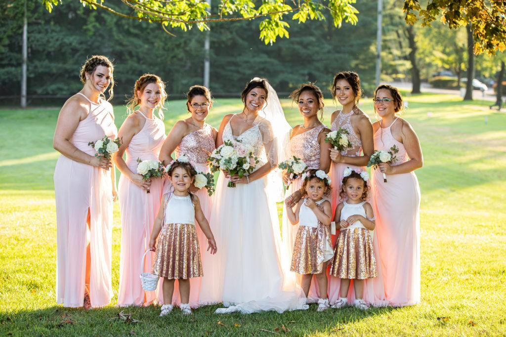 bridesmaids, penn oaks country club wedding