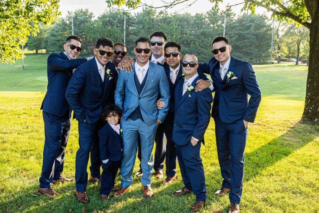 groomsmen, penn oaks country club wedding