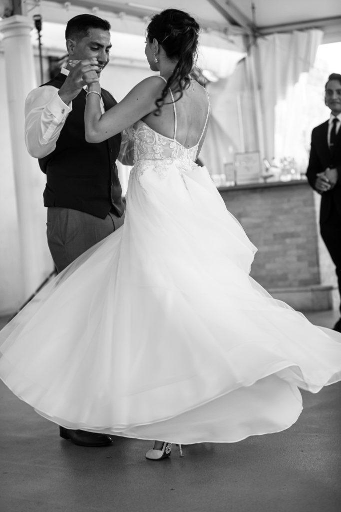 first dance, penn oaks country club wedding
