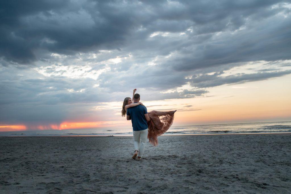 jersey shore engagement session sunrise