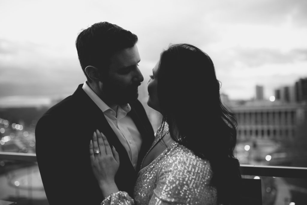 Engagement Session, Logan Hotel Rooftop Lounge