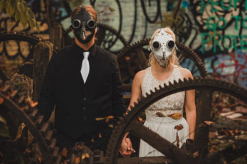 halloween engagement session nik morina photography