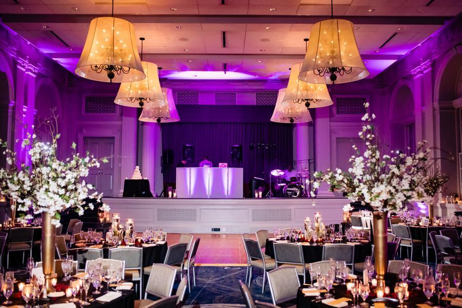 wedding reception in ballroom