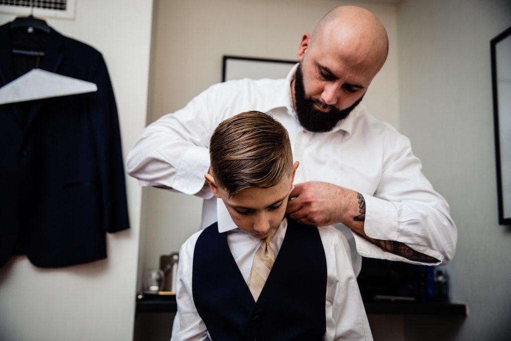 groom and ring boy, crystal tea room wedding nicole cordisco photography