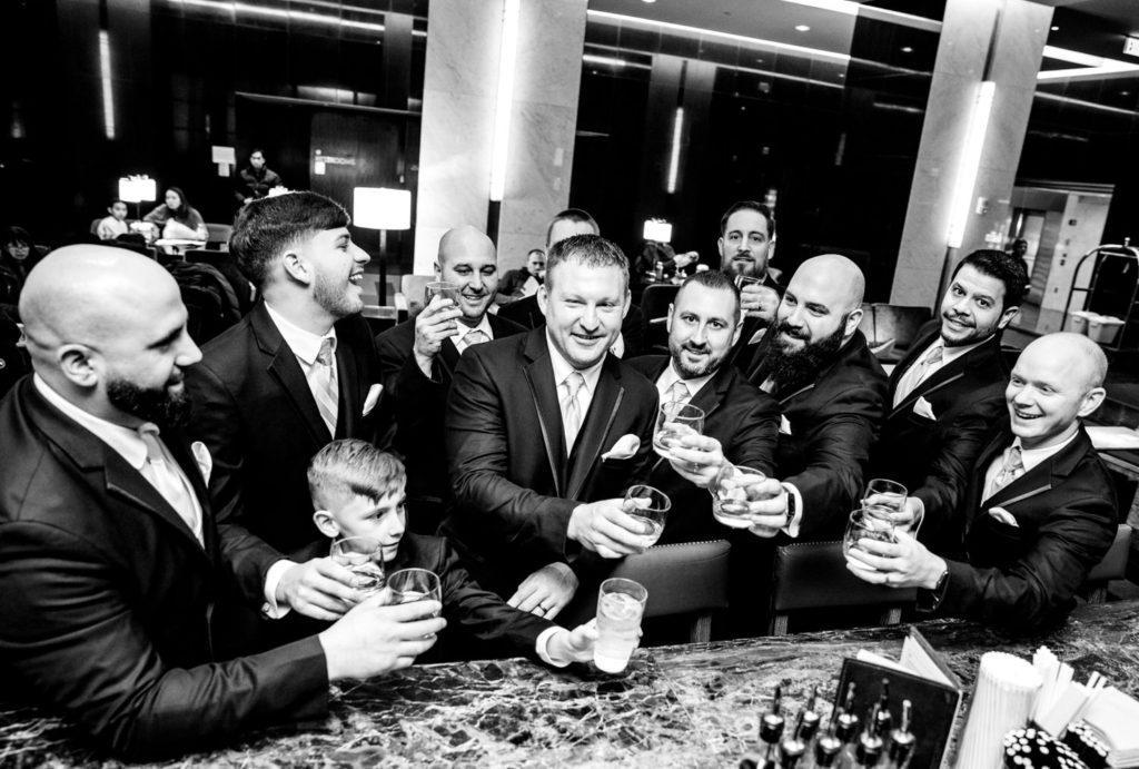 groomsmen toast, crystal tea room wedding nicole cordisco photography