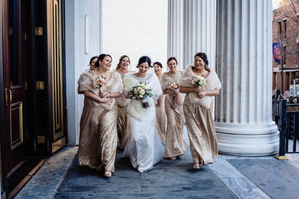 bridemaids, crystal tea room wedding nicole cordisco photography
