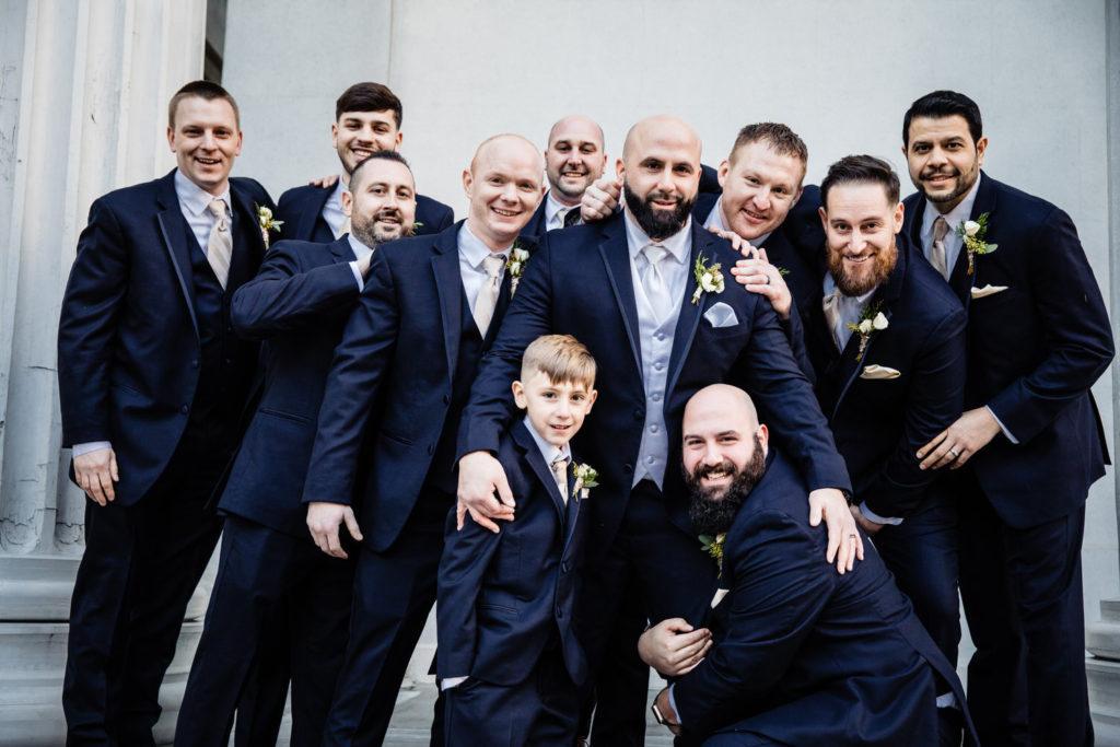 groomsmen, crystal tea room wedding nicole cordisco photography